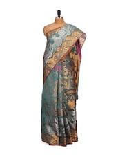 Green Faux Cotton Silk Saree - Bunkar