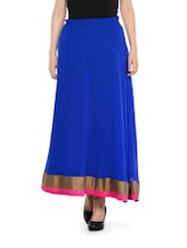 Luxe Touch Royal Blue Maxi Skirt - NAVYOU