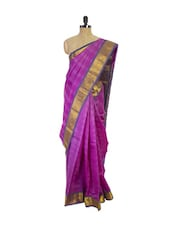 Purple Kanchipuram Pattu Silk Saree - Pothys