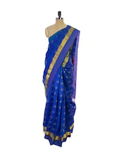 Indigo Blue Kanchipuram Vasundhra Pattu Silk Saree - Pothys