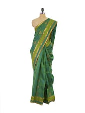 Green Kanchipuram Pattu Silk Saree - Pothys