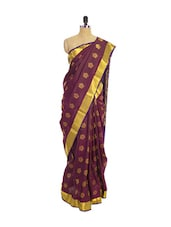Purple Kanchipuram Vasundhra Pattu Silk Saree With Zari & Jacquard Work - Pothys