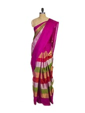 Multi Colored Kanchipuram Uppada Pattu Silk Saree - Pothys