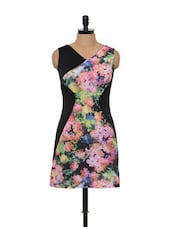 Black Floral Printed Dress - Glam And Luxe