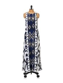 Aztec Print Maxi Dress - Femella