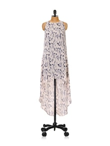 High-Low Printed Maxi Dress - Femella