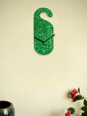 Glitter Hang It Anywhere Wall Clock-Green - Zeeshaan