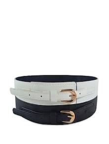 Black And White Waist Belt - ANTIFORMAL