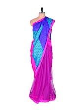 Glorious Pink Palette Saree With Print - Vishal Sarees