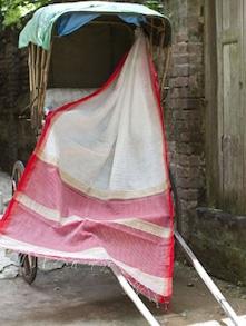 White And Red Cotton Silk Saree - Cotton Koleksi