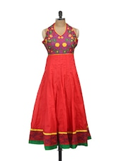 Pink Anarkali Kurta With Colourful Embroidery - Concepts