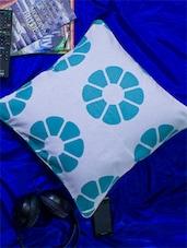 Set Of 2 White Base Lemon Print Cushion Covers - Home Colors