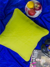 Set Of 2 Lime Green Cotton Cushion Covers - Home Colors