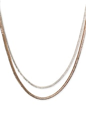 Long Dual Chain Silver And Gold Necklace - CIRCUZZ