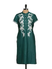 Satin Smooth Emerald Ethnic Kurta - Vedanta