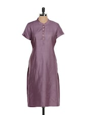 Satin Smooth Plum Coloured Ethnic Kurta - Vedanta