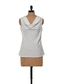 Polka Dotted Polyester Top - Meira
