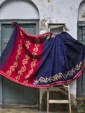 Awesome Blue Resham Cotton Saree - Cotton Koleksi