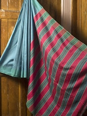 Turquoise Blue Saree - Cotton Koleksi