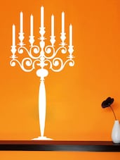 Candle Stand Wall Deca Wall Art ( White ) - DeStudio
