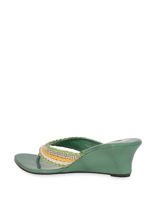 782dd0f53bc7f Buy Crystal Studded Green Wedge Heels for Women from Yepme for ₹406 at 19%  off | 2019 Limeroad.com