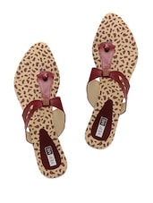 Stylish Cherry Red Studded Sandals - Yepme