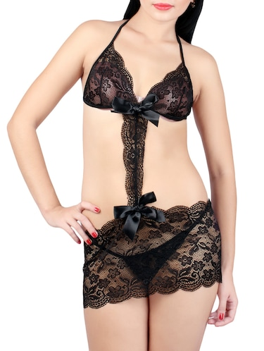 7efecc4f6ca Buy Black High Neck Body Stocking for Women from Kaamastra for ₹740 ...