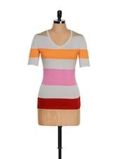 Flat Knit Striped Knit Top - Thegudlook