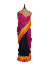 Shlok Print Bhagalpuri Art Silk Saree - Purple Oyster