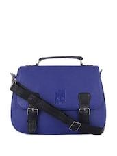 Blue And Black Satchel Bag - Eavan