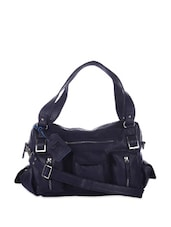 Midnight Blue Tote With Multiple Pockets - Eavan