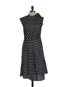 Lovely Polka Dotted Dress - AKYRA