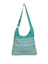 Green Printed Casual Bag - YOLO - You Only Live Once