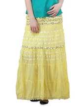 Light Yellow Long Skirt - Lalana