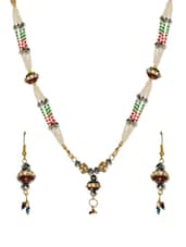 Multi Coloured Faux Pearl Seed Bead Necklace (Set) - Savi