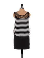 Black And White Striped Dress - Xniva