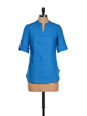 Electric Blue Linen Top - Yell