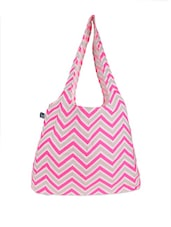 Pink And Grey Chevron Tote Bag - Be... For Bag