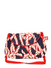 Trendy Blue And Red Sling Bag - Be... For Bag