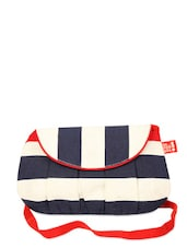 Blue And White Striped Sling Bag Cum Clutch - Be... For Bag