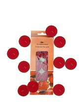 Set Of 10 Strawberry Scented Tea Lights - Fragrance World India