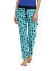 Blue Cotton Pyjama With Butterfly Prints - By