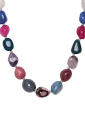 Multi-coloured Stones Trendy Necklace - Art Mannia