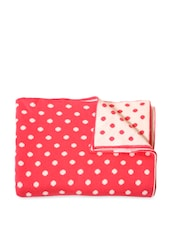 Bright Pink And White Polka Dotted Baby Blanket - Pluchi