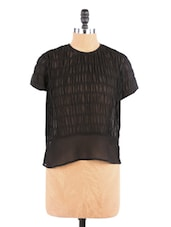 Black Top With Buttoned Down Back - Aaliya Woman