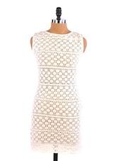 White Lace Dress - Aaliya Woman