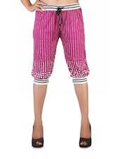 Dot Print Loose Pink Short Pants - Vivomo