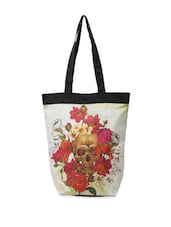 Stylish Multi-coloured Calavera Print Tote Bag - The House Of Tara