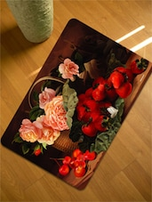 Flowers  &  Fruits Table Mats Set Of 12 Pieces-6  Tablemat + 6 Coaster) - Freelance