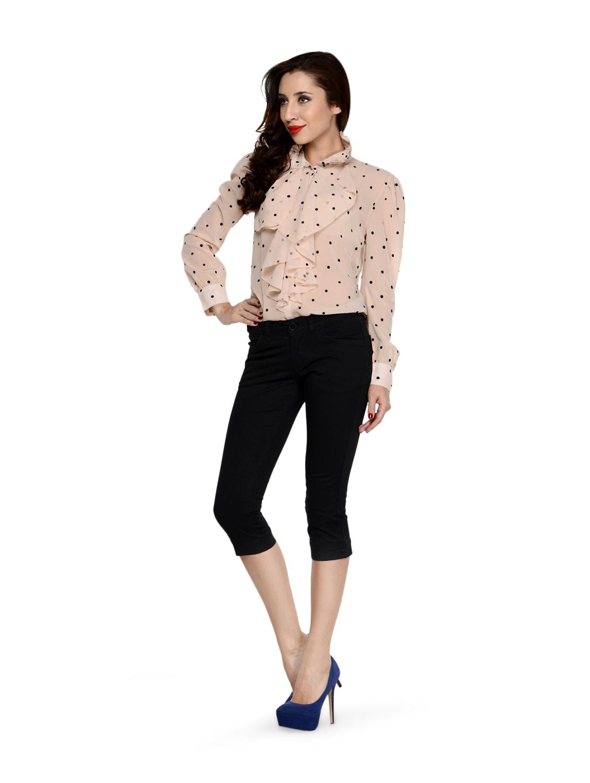 Buy Licorice Black Capri Jeggings by Ursense - Online shopping for Capris  in India  b2a188198